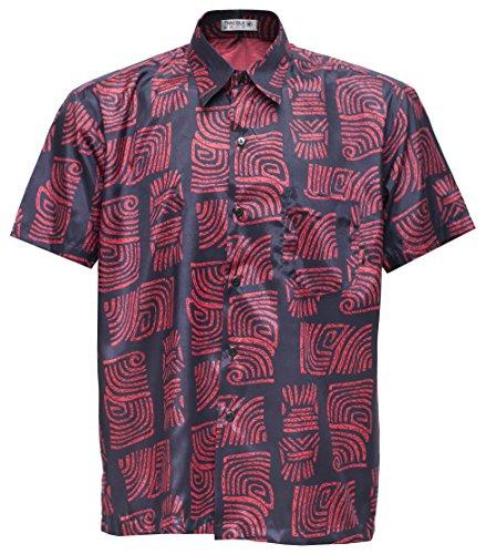 Camiseta de manga corta de los hombres de seda tailandesa estampada jo
