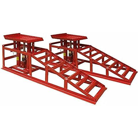 DEET® Heavy Duty rampe per auto. Rampe sollevamento auto con 1,5tonnellate jack per Extra Lift. Professionale Kit sollevamento auto idraulico