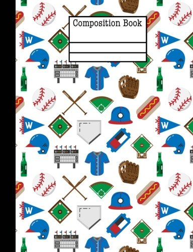 Baseball Game Composition Notebook - Wide Ruled: 7.44 x 9.69-200 Pages - School Student Teacher Office por Rengaw Creations