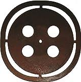 Zaunknopf - witziger Rost Knopf für Zäune - Ø 15 cm