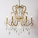 GY Kristalltröpfchen Elegante Kronleuchter Deckenleuchten Kronleuchter mit 4-Licht Lampenschirmen Deckenleuchte Leuchten Pendelleuchte Kerzenleuchter 4 Größen /+*+/