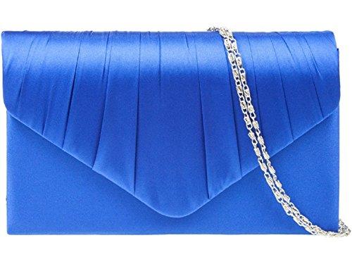 ParaCity Damen Abendtasche Clutch elegante Satin Handtasche Kettentasche Schultertasche f. Hochzeit, Bankette,Besuch,Verabredung