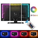 LED TV Backlight, Vansky Bias Lighting for HDTV, USB Powered with 2M RGB Multicolor, 20 Brightness Levels, 21 Modes Remote Control Led Strip Lights Kit for Home Theater, PC Monitor【Reduce Eye Fatigue and Increase Image Clarity】