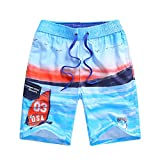 LAPLBEKE Jungen Badehose Shorts Badebekleidung Urlaub Badeshorts Casual Lange Shorts