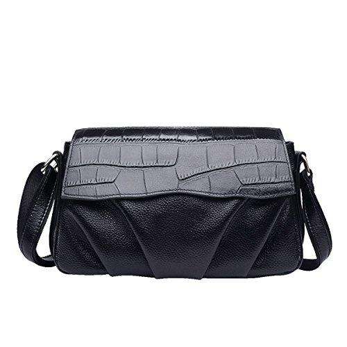 Mena UK-Femmes en cuir artificiel simple Casual crocodile sac à bandoulière / Messenger Bag / sac à main / épaule