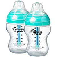 Tommee Tippee Closer to Nature - Biberón anticólico, 260 ml (pack de 2), 0 meses