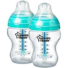 Tommee Tippee Closer to Nature - Biberón anticólico, 260 ml (pack de 2), 0 meses