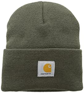 Carhartt Watch Hat Bonnet de travail, Moyen, Marron/vert