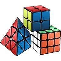 Zauberwürfel Set, Roxenda Zauberwürfeln-Serie von 2x2x2 3x3x3 Pyramid Cube Würfel Smooth Zauberwürfeln