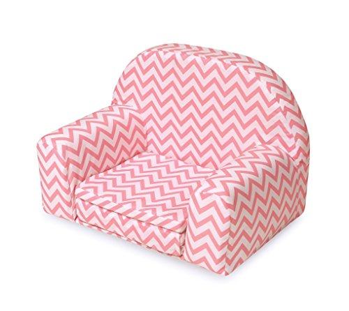 gepolsterten Puppe Stuhl mit ausklappbares Bett–Pink Chevron (passend für American Mädchen Puppen)