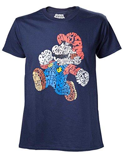 Nintendo T-Shirt -M- Mario Word Play, Blau [Importación Francesa]