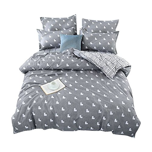 TTMALL dreiteilig Mikrofaser Bettbezug-Set, Braun Kaffee Schwarz Leopard Haut Muster Design Prints, Ohne Tröster Modern Full/Queen (1duvet Cover+2pillowcases)#06 -
