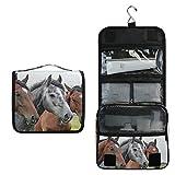 Kulturtasche mit Pferden zum Aufhängen, multifunktional, Kosmetiktasche für Frauen, Mädchen,...