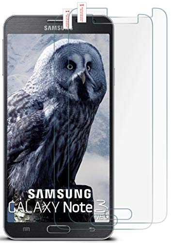 moex 2X 9H Panzerfolie für Samsung Galaxy Note 3 Neo | Panzerglas Bildschirm Glasfolie [Tempered Glass] Screen Protector Glas Bildschirmschutz-Folie für Samsung Galaxy Note 3 Neo Schutzfolie
