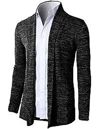 fcf25661d1a3 Brinny Herren Strickjacke Open Jacke Lang Cardigan Knit Mantel Strick Jacke  Hoodie Hoody Sweatshirt Sweatblazer