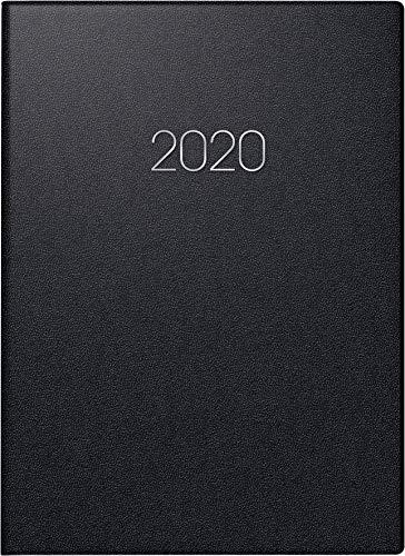 BRUNNEN 107966090 Buchkalender Modell 796 (2 Seiten = 1 Woche, 14,8 x 20,5 cm, Balacron-Einband, Kalendarium 2020) schwarz