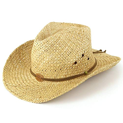 Cowgirl-folie (Top BrandHerren Cowboyhut Natural straw)