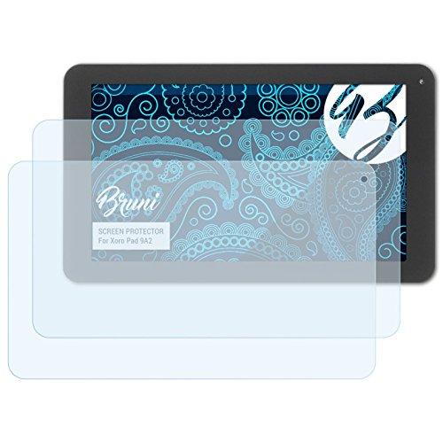 Bruni Schutzfolie für Xoro Pad 9A2 Folie, glasklare Displayschutzfolie (2X)