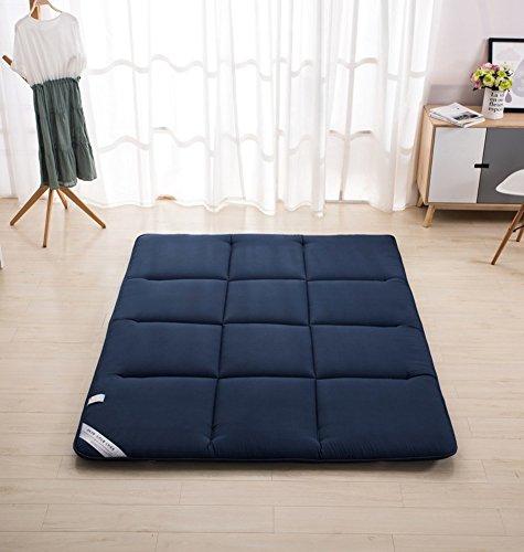 Japanische Design-tatami-matte (Nclon Zusammenklappbar Ergonomie Design Helfen Schlaf Tatami-matten,Fußmatten Matratze Sleeping pad Boden Student Für Sommer Day Hit The Ground Shop-tiefblau 150x200cm(59x79inch))