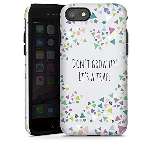 Apple iPhone X Silikon Hülle Case Schutzhülle Sprüche Muster Dreiecke Tough Case glänzend