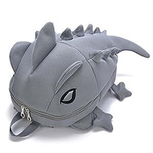 Niedlich 3D Tier Nylon Rucksack für Teenager Mädchen und Jungen - Meucheln Chameleon Schultasche - Monster Collection