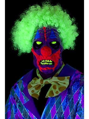 Smiffys Kostüm Zubehör UV Schwarzlicht Maske Horror Killer Clown Halloween