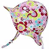 Atmungsaktiver Sonnenhut fürs Baby (Mädchen) 50 UPF, verstellbar, mit Kinnriemen, faltbar(Mittel: 6-30m, Schlapphut: Rosa Schatz)