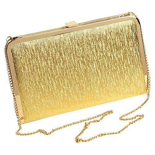 Sasairy 20x12x3cm Donna Bling Pochette Eleganti da Cerimonia Piccolo Mini Sera Borsa Glitter della Matrimonio Regalo di Compleanno-Oro