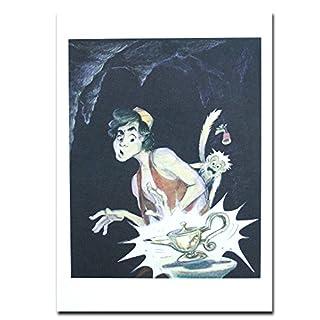 Micro Gorilla Aladdin Disney Film Genuine Postcard Aladdin and Abu Genie Lamp Card Gift