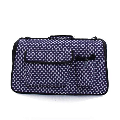 Tragbare Pet Bag Out Atmungsaktive Reise-Tragetasche Kleine Und Mittlere Haustier Hund Katze Auto Tasche (Farbe : Purple) (Hund Mittlerer Käfig)