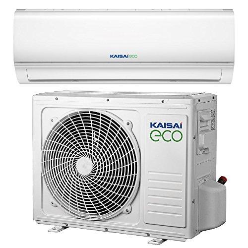 Split Klimaanlage Inverter Klimagerät mit Wärmepumpe Energieklasse A++ / A+ 9000 BTU 2.6 kW 40m2 Splitgerät Klima KAISAI Eco 2