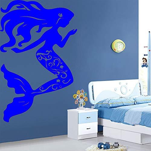 xingbuxin Schöne Kleine Meerjungfrau Wandaufkleber Für Wohnkultur Wohnzimmer Mädchen Zubehör Wasserdicht Kunst Aufkleber Adesivos 3 XL 58 cm X 91 cm