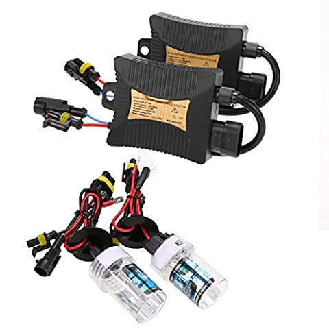 55W HID Bi-xénon Phare de Conversion Ampoule H4-3 Ballasts Kit 4300K/6000K/8000K/10000K - 8000K