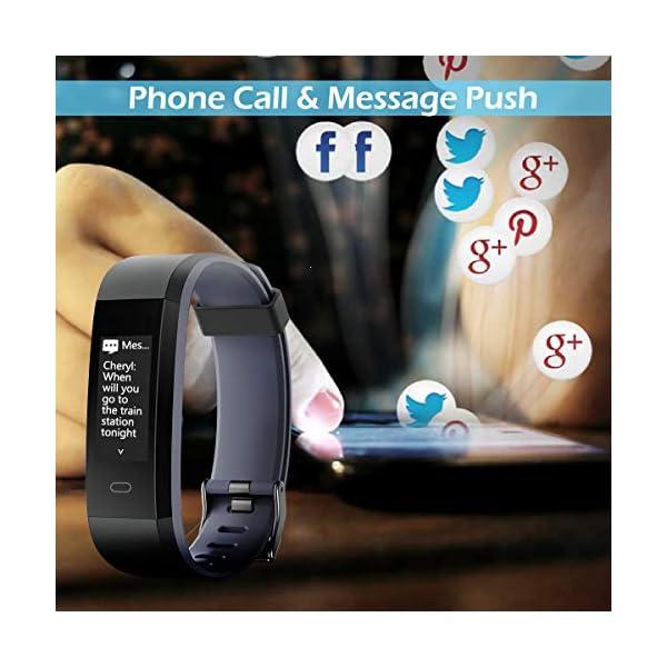 CHEREEKI Pulsera Actividad, Fitness Tracker IP68 Impermeable Monitor de Frecuencia Cardiaca 14 Modos de Ejercicio… 5