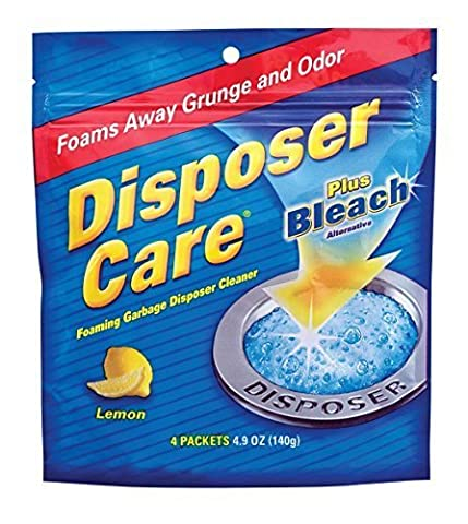 Glisten New Super Size Packageage DP06N-PB Disposer Care Foaming Garbage Disposer Cleaner-4.9 Ounces each Powerful Disposal Cleanser for Complete Cleaning of Entire DisposerNew Super Size Package 40 Packets Lemon + Plus Bleach by Summit Brands