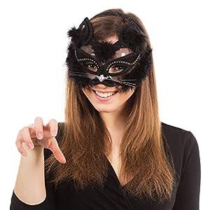 Eye mask Black Marabou Cat on Headband (máscara/careta)