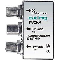 Axing TVS 21-00 Amplificatore per antenna tv digitale terrestre per collegare a presa, 12 dB, 2 uscite - Trova i prezzi più bassi su tvhomecinemaprezzi.eu