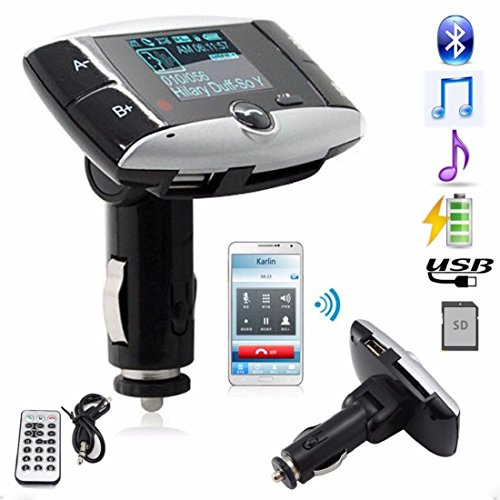Tongshi 1.5''LCD Car Kit MP3 Player Bluetooth FM Transmitter Modulator SD MMC USB Remote