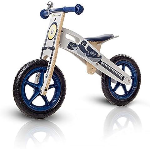 Niños fuerza Runner bicicleta de madera sin pedales con campana de bolsa y de 2 colores