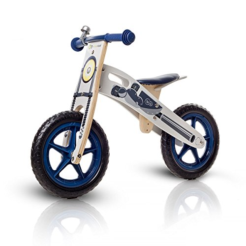 Draisienne runner Moto velo sans pedales bois avec sac et cloche
