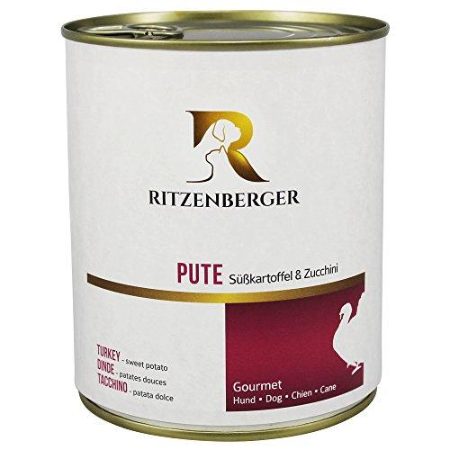 Ritzenberger, cibo per cani, Tacchino - patata dolce, 6 x 800g, Gourmet