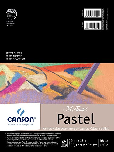 Canson Mi-Teintes Pastel Pad (Assorted Colors, 9X12-inch)