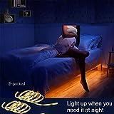 LED Streifen Nachttischlampe 2er Set mit Bewegungsmelder, Nachtlicht für Kinder, für Betten, Schrank, Sofa und andere Möbel