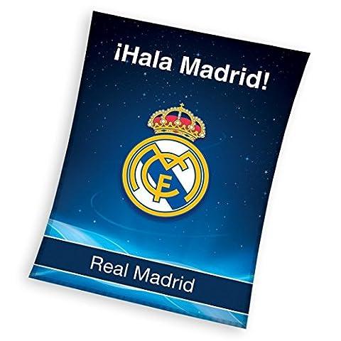 Real Madrid plaid couverture polaire 150x200 cm Fleece Blanket idée déco Champions Club Football