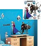 Unbekannt 13 Stück: Wandsticker _  Disney die Eiskönigin - Frozen  - incl. Name - selbstklebend + wiederverwendbar - Aufkleber für Kinderzimmer - Wandtattoo / Sticker..