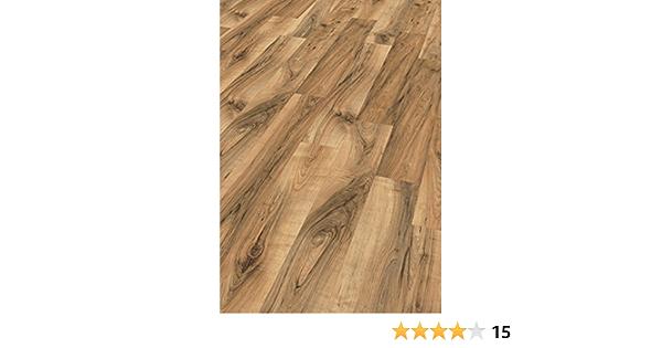 Feuchtraum geeignet Perganti Nussbaum braun EHL075 Laminatboden wasserfest EGGER Home Aqua+ Laminat braun Holzoptik 8mm, 1,994 m/²