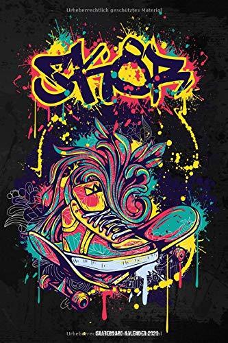 Skateboard Kalender 2020: Wochenplaner 2020 mit Skateboard Cover | 70 Seiten | 15,24 X 22,86 cm |