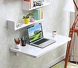 ZJM-tables Wandtisch Wand Schreibtisch Drop-Leaf Esstisch Sekretär Computer Schreibtisch Beistelltisch Weiß Einbrennlack (größe : 70 * 40cm)