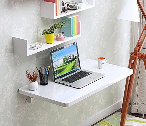 Wandtisch Wand Schreibtisch Drop-leaf Esstisch Sekretär Computer Schreibtisch Beistelltisch Weiß Einbrennlack ( größe : 70*40cm )