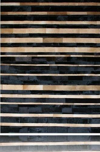 Vip-leather NEU KUHFELL PATCHWORK TEPPICH Cod 802 (150 cm x 210 cm)